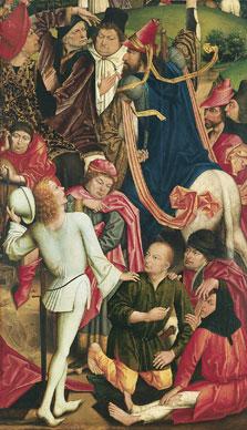 Caballeros y soldados jugando a los dados la capa de Cristo