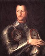 Cosme I de Medici con armadura
