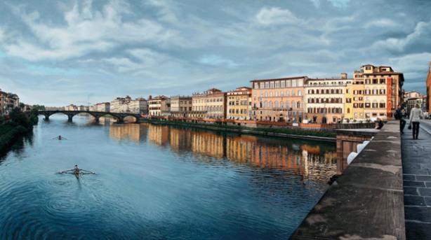 El Arno al atardecer