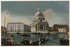 Vista del Canal Grande con Santa María della Salute